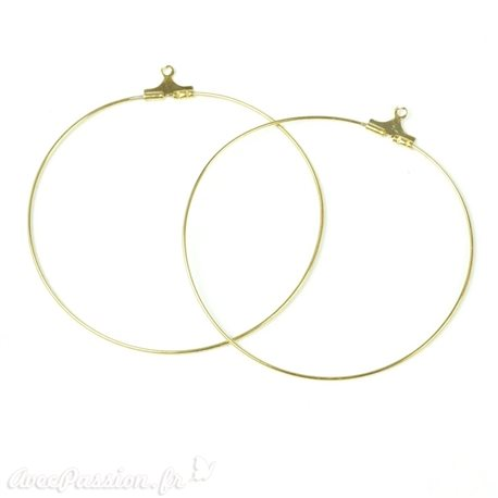 Apprêt Boucles d'oreilles créoles or 5 cm