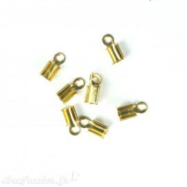 Apprêt Embouts lacet cuir doré 5 mm