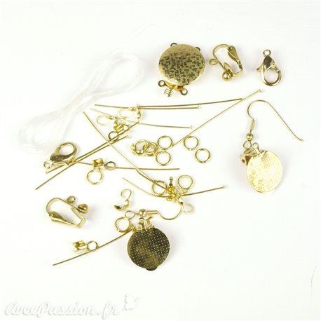 Apprêt Kit accessoires doré pour création de bijoux