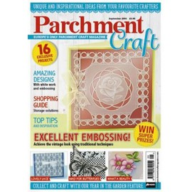 Parchment Craft magazine Pergamano septembre 2016 Excellent embossing