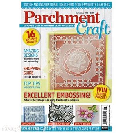 Parchment Craft magazine Pergamano septembre 2016 Excellent embossing