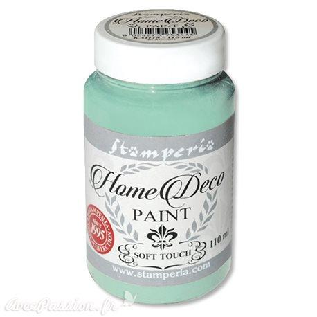 Peinture à la craie chalk paint vert eau