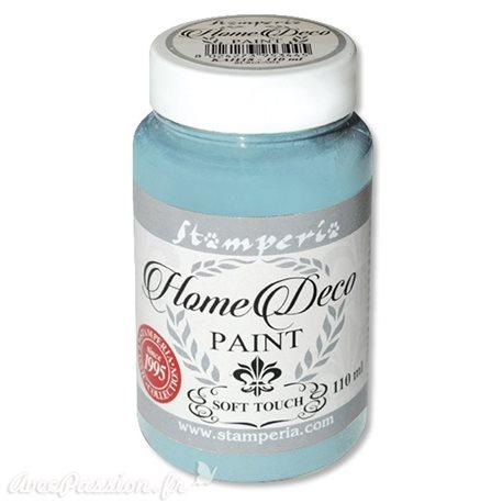 Peinture à la craie chalk paint bleu poussière