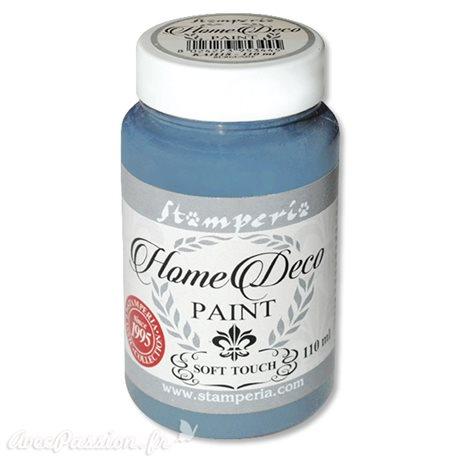 Peinture à la craie chalk paint bleu