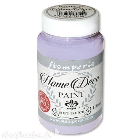 Peinture à la craie chalk paint lilas