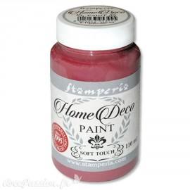 Peinture à la craie chalk paint rouge burgundy