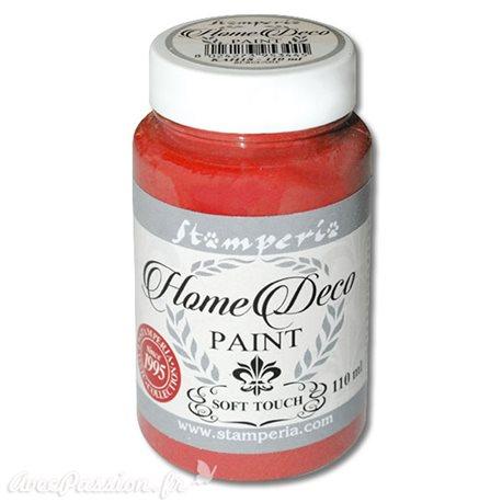 Peinture à la craie chalk paint rouge chaud