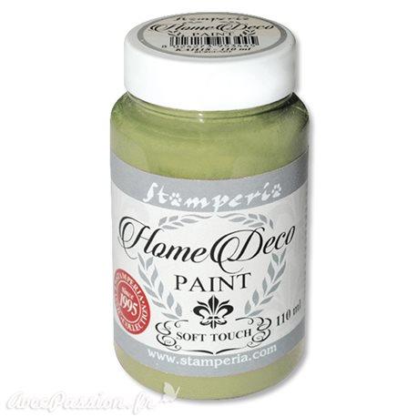 Peinture à la craie chalk paint vert olive