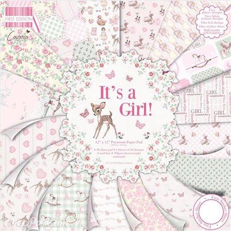 Papier scrapbooking assortiment It's a girl 48fe