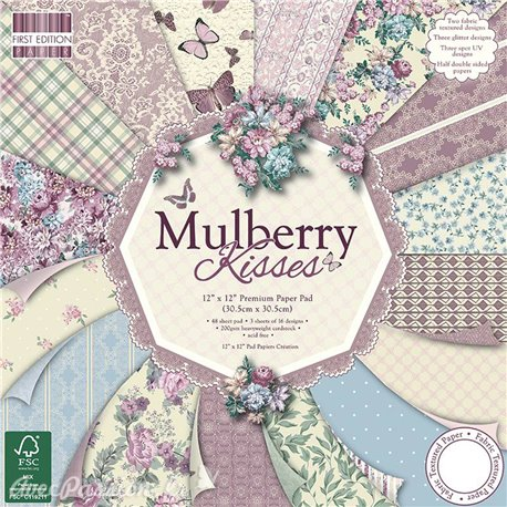Papier scrapbooking assortiment mulberry kisses 48fe