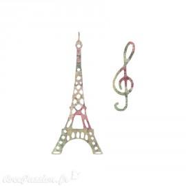 Dies découpe Tour Eiffel & clef de sol