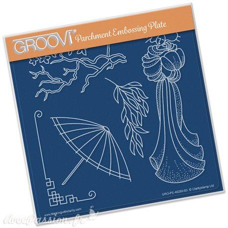 Gabarit geisha Groovi de Claritystamp