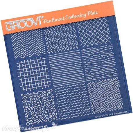 Gabarit tracage du parchemin carrés texturés Groovi