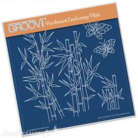 Gabarit tracage du parchemin forêt de bamboo Groovi