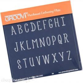 Petit gabarit tracage du parchemin lettres majuscules Groovi