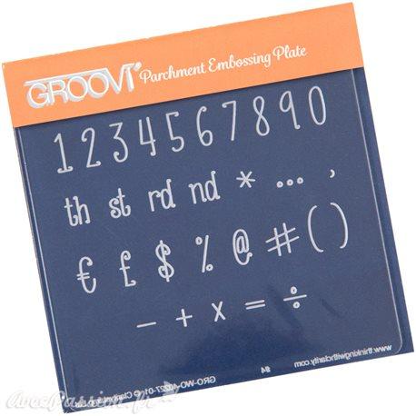 Petit gabarit tracage du parchemin numbers Groovi