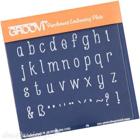 Petit gabarit tracage du parchemin lettres miniscules Groovi