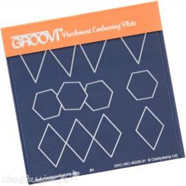 Petit gabarit tracage du parchemin frises et formes Groovi