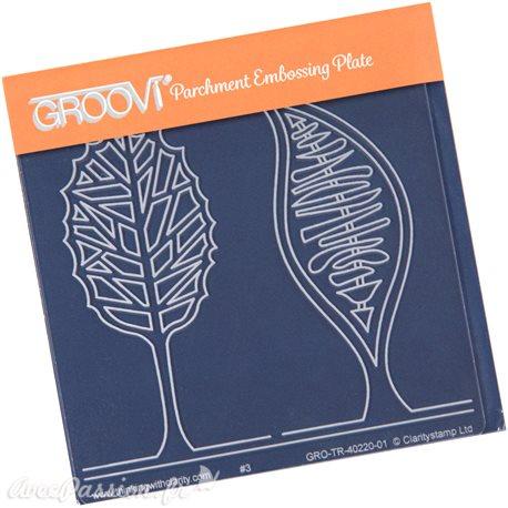 Petit gabarit tracage du parchemin arbres abstraits Groovi