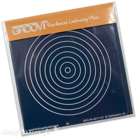 Petit gabarit tracage du parchemin cercles imbriqués Groovi