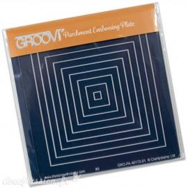 Petit gabarit tracage du parchemin carrés concentriques Groovi