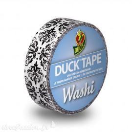Masking tape blanc arabesques noir papier adhésif washi