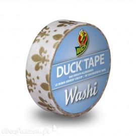 Masking tape blanc lys doré papier adhésif washi