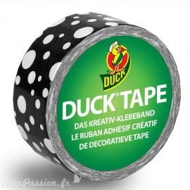 Masking tape noir pois blanc papier adhésif washi