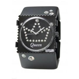 Montre Stamps bracelet de montre élastique belta noir diamond