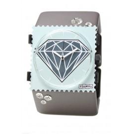 Bracelet élastique de montre Stamps belta gris diamond