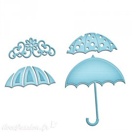 Dies découpe gaufrage trio de parapluie Spellbinders Shapeabilities