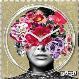 Cadran de montre Stamps head full of flowers