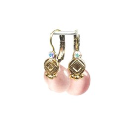 Boucles d'oreilles rose oreilles percées Nathalie Borderie
