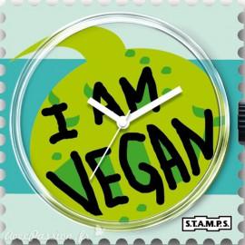 Cadran de montre Stamps I am vegan