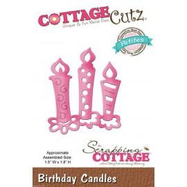 Dies découpe gaufrage matrice CottageCutz petites bougies d'anniversaire