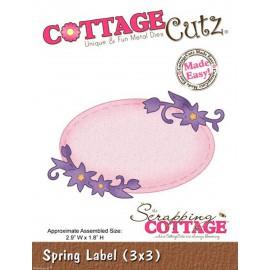 Dies découpe gaufrage matrice CottageCutz étiquette fleurie