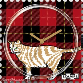 Cadran de montre Stamps checky cat