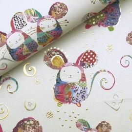 Papier Turnowsky motifs souris rehaussé de doré