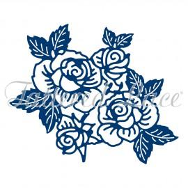 Dies découpe gaufrage matrice Tattered Lace fleurs roses