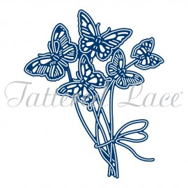 Dies découpe gaufrage papillon bouquet Tattered Lace