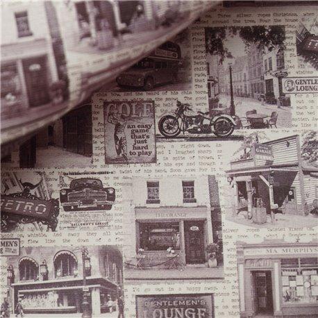 Papier motifs metro