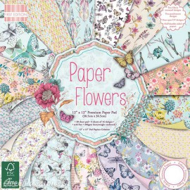 Papier scrapbooking assortiment botanical notes 48fe