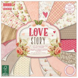 Papier scrapbooking assortiment love story 48fe