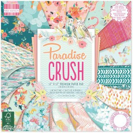Papier scrapbooking assortiment paradise crush 48fe