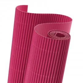 Papier carton ondulé couleur rose fuschia