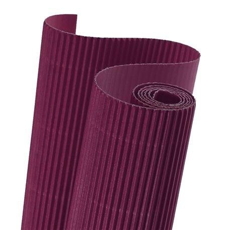 Papier carton ondulé couleur violet