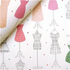 Papier tassotti motifs mannequins