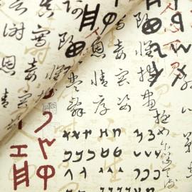 Papier tassotti motifs écriture orientale