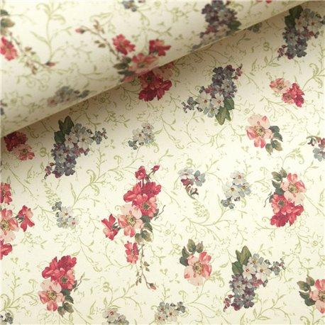 Papier tassotti motifs liberty fleurs