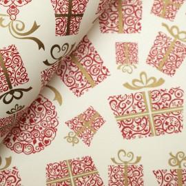 Papier tassotti motifs noel cadeau rouge